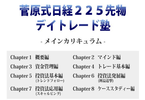 菅原式日経225先物デイトレード塾カリキュラム